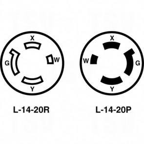 20A 125/250V 3-Pole 4-Wire Grounding - Single Flush Receptacle