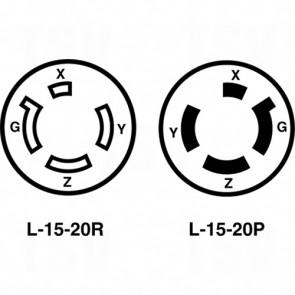 20A 30 250V 3-Pole 4-Wire Grounding - Single Flush Receptable
