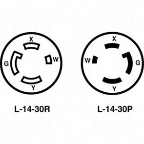 30A 125/250V 3-Pole 4-Wire Grounding - Single Flush Receptacle