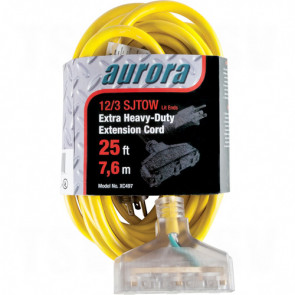 Outdoor Vinyl Extension Cords with Light Indicator - Triple Tap